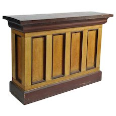 American Country Store Counter with Original Surface.19th Century.