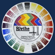 An English Porcelain Blythe Artist Colour Sample Plate.