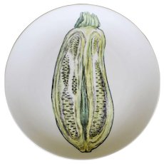 Vintage Piero Fornasetti Sezioni Di Frutta Plate Depicting an Eggplant or Aubergine,  #2 in Series, 1960's.