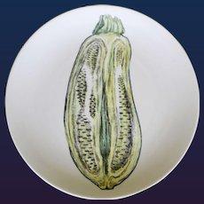 Vintage Piero Fornasetti Sezioni Di Frutta Plate Depicting an Eggplant or Aubergine,  #2 in Series, 1960's.
