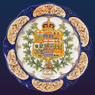 Wedgwood Canadian Series Toronto Pottery Armorial  Plate, 1911.