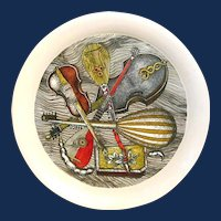 "Piero Fornasetti Metal ""Strumenti"" Pattern Tray, 1950s-60s."
