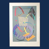 """William Conlon, """"Untitled """" , Poster,15th Annual Community Holiday Fesitval, 1985. Signed lower right."""