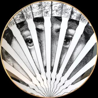 Vintage Rosenthal Fornasetti Porcelain  Temi E Variazioni Motiv 26, Lina Cavalieri, With Original Box,