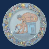 "Rosenthal studio-linie Porcelain Plate-""After Newton"" by Eduardo Paolozzi."