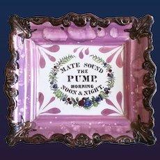 Sunderland Lustre Plaque, Mate, Sound the Pump, Morning Noon & Night