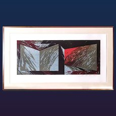 Laddie John Dill Large Lithograph & Woodcut on Wove Paper, 1985.
