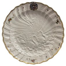 Large Meissen Armorial Dish from the Swan Service