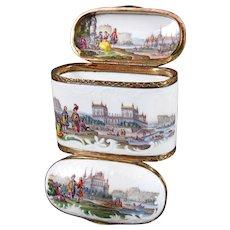 Double Porcelain Snuff Box, Meissen ca. 1750