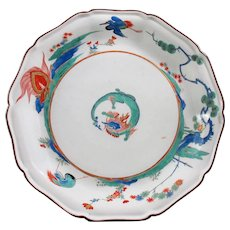 A rare ten-sided Kakiemon Plate from the Property of Augustus III