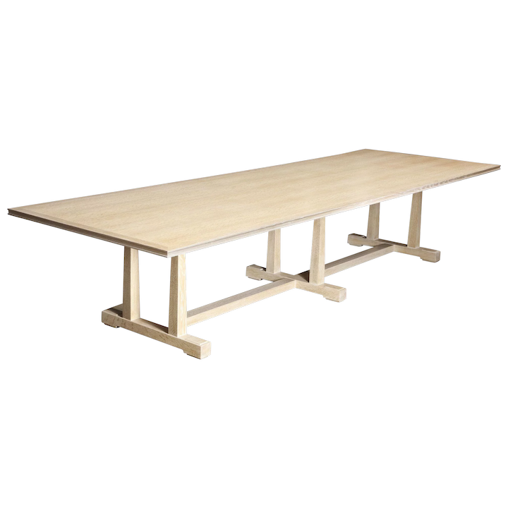 Crafts Style Oak Refectory Table