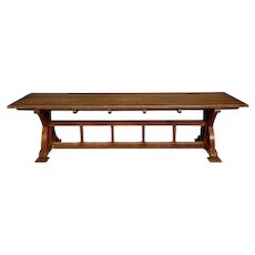 A Large Arts and Crafts Oak Library Table attributed to A. Romney Green, c. 1905