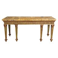 An Eighteenth Century Sienna Marble Veneered Top Supported on Adam Style Base