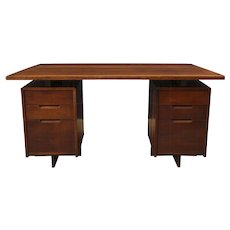 Double Pedestal Desk by George Nakashima, Circa 1964