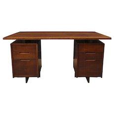 Double Pedestal Desk by George Nakashima, Circa 1964