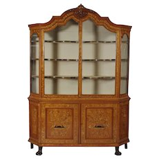 Dutch Marquetry Bookcase Cabinet