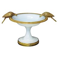 Charles X White Opaline Coupe, c. 1825