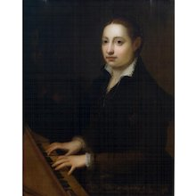 "After Sofonisba Anguissola ""Self Portrait at the Clavichord"""