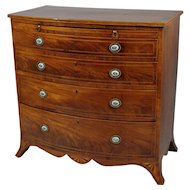 George III Mahogany Bow Front Chest of Drawers