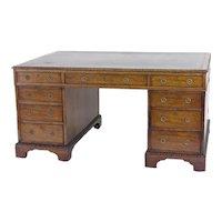 Victorian Mahogany Partners Desk, c. 1840-60