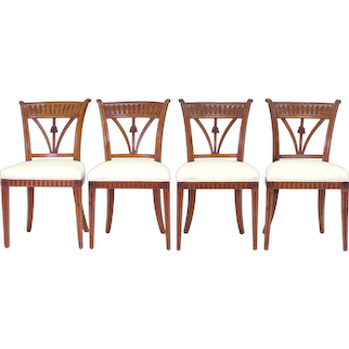 Set of Four Italian Side Chairs, c. 1800