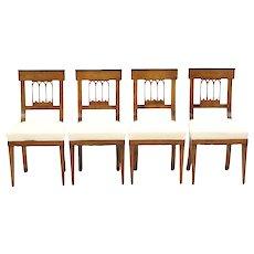 Set of Four Biedermeier Side Chairs, c. 1810-20