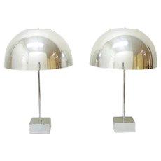 Pair of Mushroom Lamps by Paul Mayen, 1960's