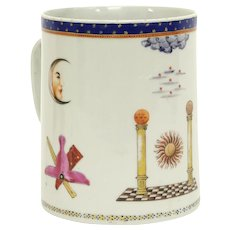Chinese Export Porcelain Masonic Mug, c. 1795