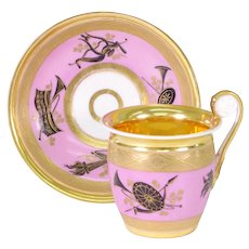 Popov Cup and Saucer, c. 1820