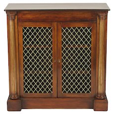 Regency Rosewood Side Cabinet, c. 1820