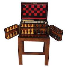 Fine Figured Walnut Games Box on Stand