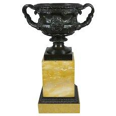 Fine Bronze and Sienna Marble Warwick Vase