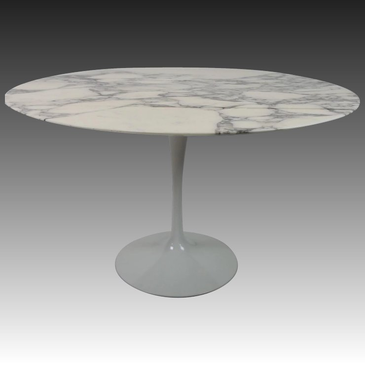 Carrara MarbleTop Tulip Base Dining Table By Eero Saarinen For - Saarinen carrara marble table