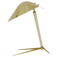 Brass Table lamp by Gio Ponti attributed for Fontana Arte Italy 1950