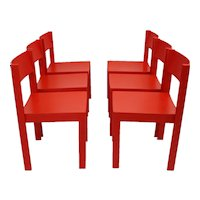 Set of 6 Mid Century Modern Dining Room Chairs Vienna