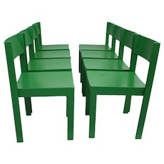 Mid Century Modern Green Carl Auböck Dining Chairs 1956 Vienna
