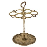 Hollywood Regency Brass Umbrella Stand 1970s Italy