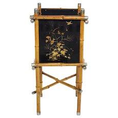 Art Deco Bamboo Paper Basket 1920s