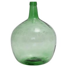 Green Art Deco Handblown Wine Bottle 1920s Austria