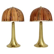 Gabriella Crespi Fungo Table lamps from the Rising Sun Series, 1973 Italy