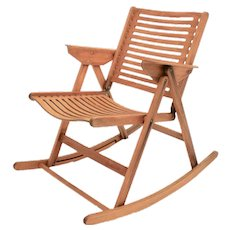 Folding Rocking Chair Rex by Niko Kralj 1950s Slovenia