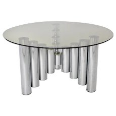 Chromed Coffee Table Manhattan 1960s