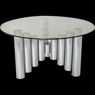 Chromed Coffee Table Manhattan 1960s