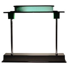 Green and Black Ettore Sottsass Jr. Pausania Table or Desk Lamp 1982 for Artemide Italy
