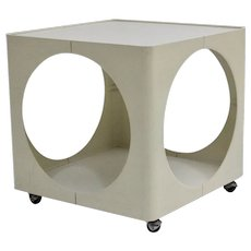 Mid Century Modern White Side Table 1960s Germany