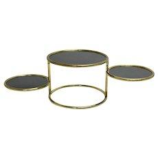 Brass Swiveling Coffee Table 1960s