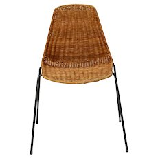 Mid Century Modern Gian Franco Legler wicker Chair 1951 Switzerland
