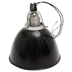 Bauhaus Black and White Email Hanging Lamp 1920s Germany