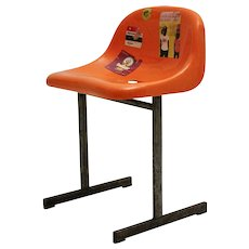 Orange Stadium Chair 1970s