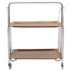 Mid Century Modern Foldable Serving Trolley 1960s Germany